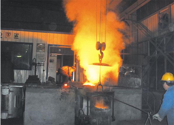 中频炉熔炼